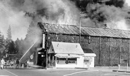 The Grizzly Theater was destroyed by fire in June of 1941. A new theatre was built on that same spot, but it was also destroyed by fire about 25 years later. The Grizzly Theater was located where Jack In The Box is today.