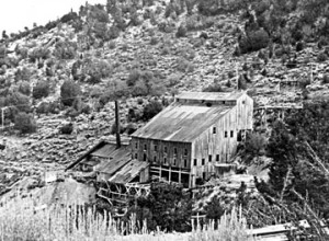 Built in 1900, this was the second 40-stamp mill constructed at Gold Mountain in Big Bear Lake.