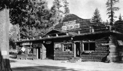 This was one of the first major buildings in the Big Bear Village. I was located where the Village Theater on Village Drive is today.