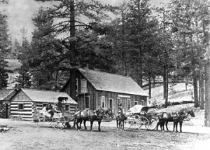 The Bear Valley Hotel.  Built in 1888, it was Big Bear Lake's first tourist resort.