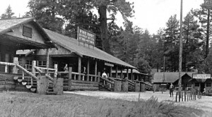 The Pine Knot Lodge was the center of the Big Bear Lake community in the early 1900's.  -  Rick Keppler Collection.