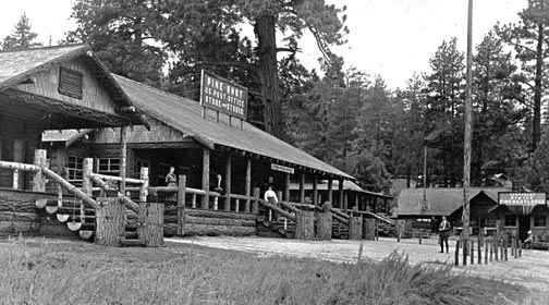 The Pine Knot Lodge as it looked in the 1920's.  -  Rick Keppler Collection.