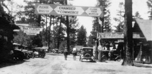Looking west along today's Village Drive at Big Bear Lake in 1919.  -  Rick Keppler Collection.