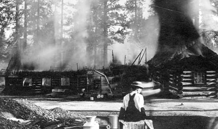 The main offices and kitchen destroyed by fire