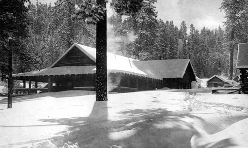 The lodge snowed in during the winter of January 1916 - Rick Keppler Collection