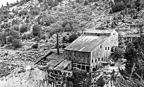 This is the second stamp mill built at Gold Mountain.  It sat on the side of the mountain overlooking the first.