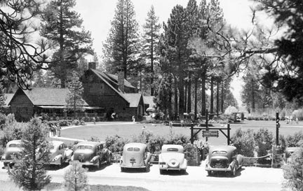 This view of the Peter Pan Woodland Club looks west from Greenway. - Rick Keppler Collection