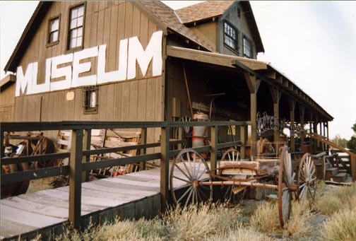 The main museum building as it looked after attached to it's foundation and the front porch was added.