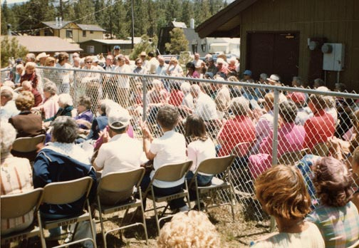 Another view of the Big Bear Museum dedication event. - Rci Keppler collection.
