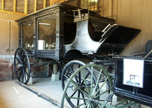 One of my favorite vehicles in the Big Bear Museum's Surrey room collection is this immaculatly restored hearse. - Rick Keppler Collection.