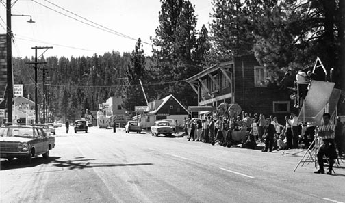Filming the TV show The FBI on Pine Knot Boulevard in Big Bear village - Rick Keppler collection.