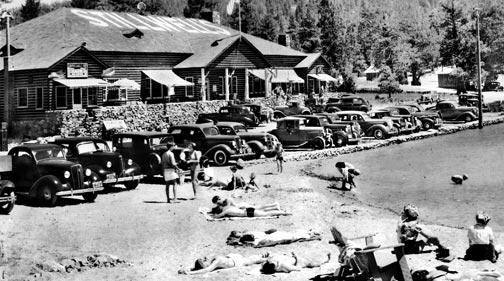 The Stillwell's resort at Big Bear Lake after it was rebuilt. Rick Keppler collection.