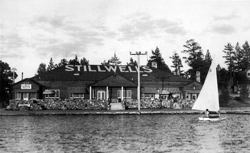"This is the ""new"" Stillwell's pavilion that was built to replace the original pavilion which burned to the ground in 1928. - Rick Keppler collection."
